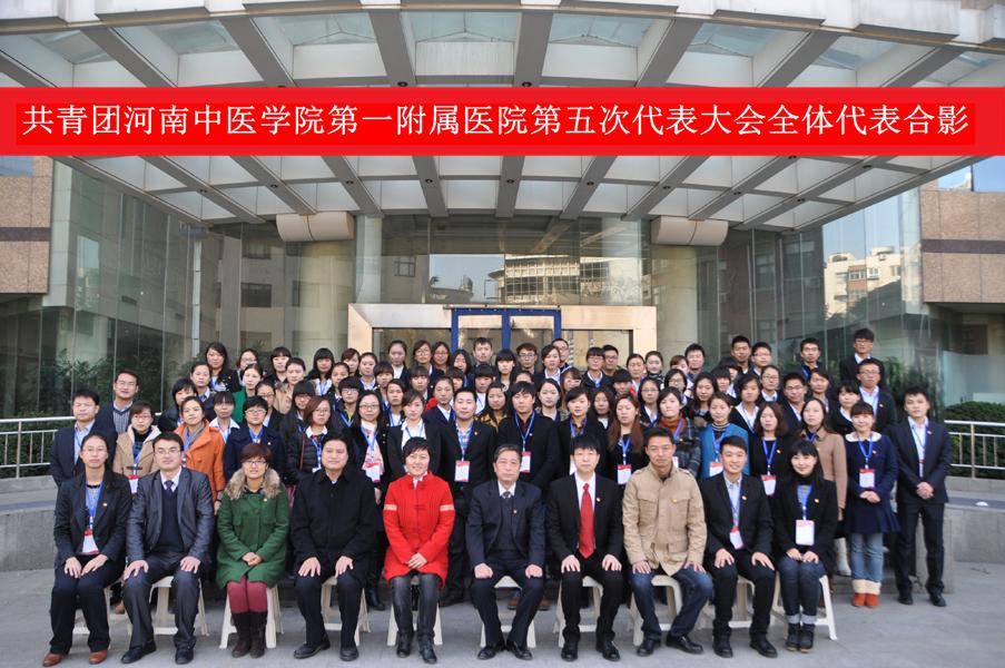 共青团河南中医学院第一附属医院第一临床医学院护理学院 第五次代表